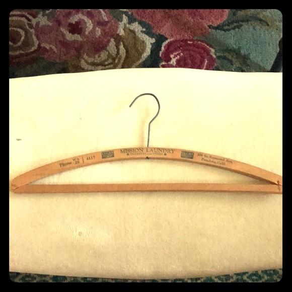 Vintage Other - Mission laundry, Pasadena Ca.. Wood vintage hanger